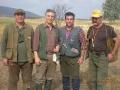 1. οι κριτές Fabricotti-Γκουζούνας-Herrak και ο πρόεδρος του International Setter Club.